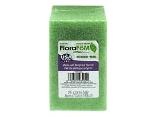 floral & garden: FloraCraft Styrofoam Block Arranger 6 x 3 x 2 in. Green 1 pc.
