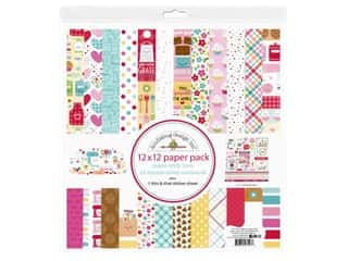 scrapbooking & paper crafts: Doodlebug Collection Made With Love Paper Pack 12 in. x 12 in.