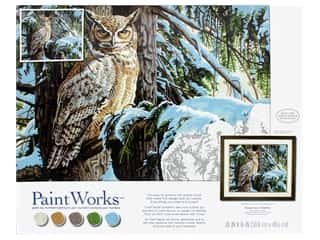 craft & hobbies: Paint Works Paint By Number Kit Great Horned Owl