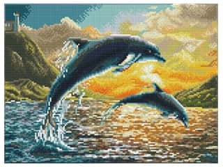 Diamond Dotz Squares Facet Art Intermediate Dolphin Sunset