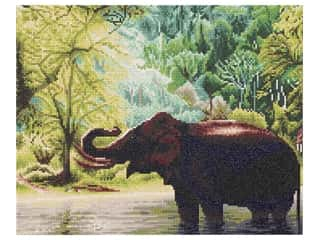 "beading & jewelry making supplies: Diamond Art Kit 16""x 20"" Sparkle Advanced Elephant Water"