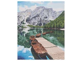 Diamond Art Kit 16 in. x 20 in. Sparkle Advanced Mountain Lake