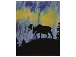 "beading & jewelry making supplies: Diamond Art Kit 16""x 20"" Sparkle Advanced Aurora Moose"