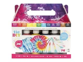 American Crafts Tie DIY Tie-Dye Kit - Brights 76 pc.