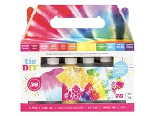 American Crafts Tie DIY Tie-Dye Kit - Vivid 76 pc.