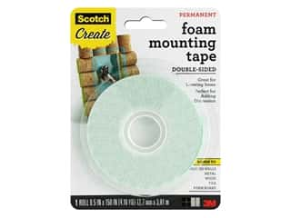 glues, adhesives & tapes: Scotch Foam Mounting Tape - Permanent 1/2 x 150 in.