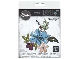 Sizzix Dies Tim Holtz Thinlits Brushstroke Flowers #2