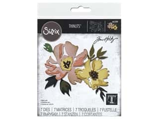 Sizzix Dies Tim Holtz Thinlits Brushstroke Flowers #1