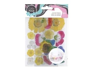American Crafts Color Pour Resin - Acetate Flowers