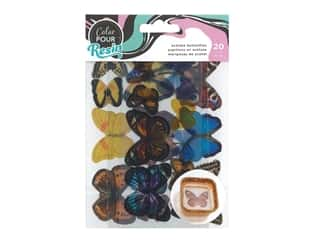 American Crafts Color Pour Resin - Acetate Butterflies