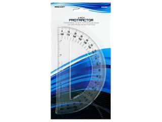 protractor: Pro Art 180 Degree Protractor - 6 in. Clear