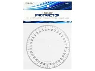 protractor: Pro Art 360 Degree Protractor - 4 in. Clear