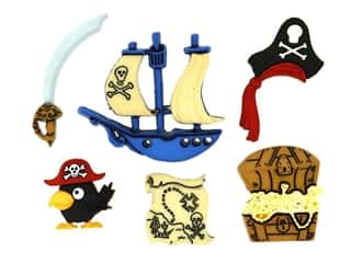novelties: Jesse James Embellishments - Pirates