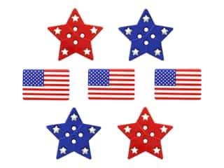 novelties: Jesse James Embellishments - Patriotic Shapes
