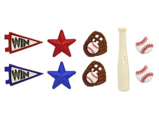 novelties: Jesse James Embellishments - Baseball