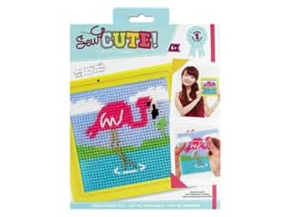 Colorbok Sew Cute! Needlepoint Kit - Flamingo