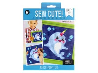 Colorbok Sew Cute! Needlepoint Kit - Narwhal