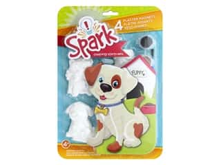 Colorbok Spark Plaster Magnets Kit - Playful Pups