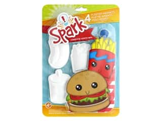 Colorbok Spark Plaster Magnets Kit - Junk Food
