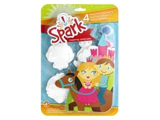 Colorbok Spark Plaster Magnets Kit - Princesses