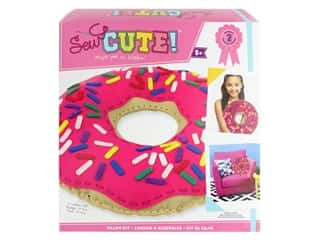 Colorbok Sew Cute! Felt Pillow Sewing Kit - Donut