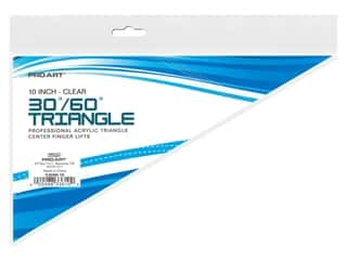 Pro Art Triangle 10 in. Finger Lift 30/60 Degree Clear