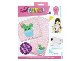 Colorbok Sew Cute! Felt Wallet Sewing Kit - Cactus