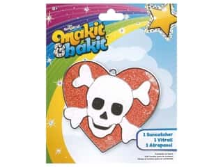 Colorbok Makit & Bakit Suncatcher Kit - Skull Heart