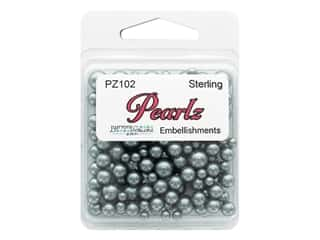 Buttons Galore Pearlz - Sterling (3 sets)