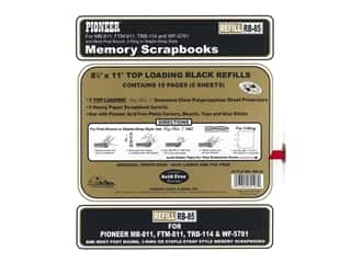 Pioneer Scrapbook Refill Page 8 1/2  x 11 in. Black