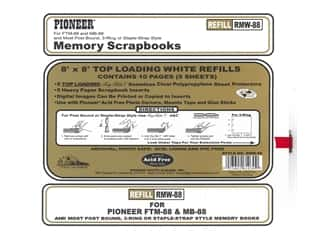 Pioneer Refill Page Scrapbook 8 in. x 8 in. White