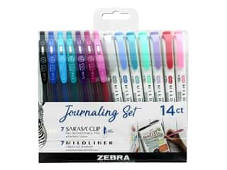 Zebra Journaling Pen Set 14 pc Sarasa Clip & Mildliner