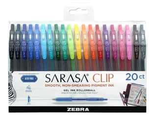 Zebra Sarasa Clip Gel Ink .5 mm 20 pc Assorted