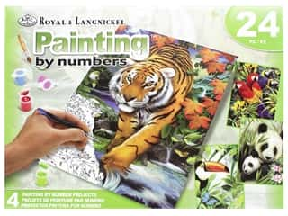 projects & kits: Royal Paint By Number Activity Set Tropical Life