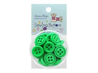 Jesse James Button Sewing 4 Hole Kelly Green