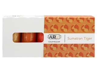 Aurifil 40 wt. Mako Cotton Color Builders - Sumatran Tiger Orange 3 pc.