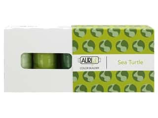 Aurifil 40 wt. Mako Cotton Color Builders - Sea Turtle Green 3 pc.