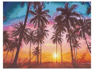 Diamond Art Kit 14 in. x 16 in. Advanced Palm Sunset