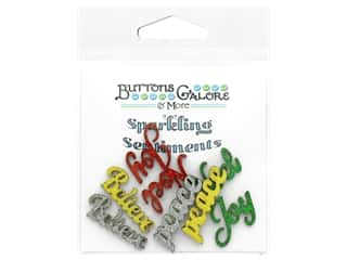 craft & hobbies: Buttons Galore Sparkling Sentiments - Noel (3 sets)