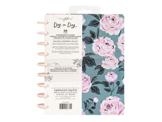 American Crafts Maggie Holmes Day To Day Daily Planner 7.5 in. x 9.5 in. Blue & Pink Rose