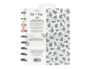 American Crafts Maggie Holmes Day To Day Daily Planner 7.5 in. x 9.5 in. Blue Floral Gold Foil