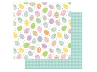 Echo Park Collection Welcome Easter Paper 12 in. x 12 in. Painted Eggs (25 pieces)
