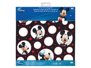 EK Paper Pack 12 in. x 12 in. Disney BWR Mickey