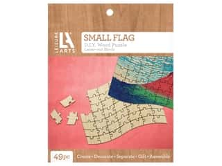 Leisure Arts Wood Puzzle Small Flag