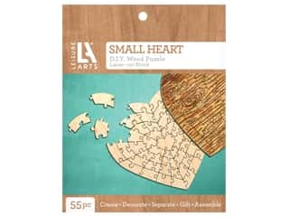 Leisure Arts Wood Puzzle Small Heart