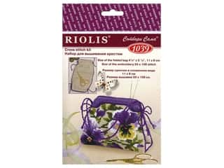 Riolis Cross Stitch Kit Pansy Pincushion