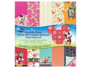EK Disney 12 x 12 in. Paper Pad Mickey Family