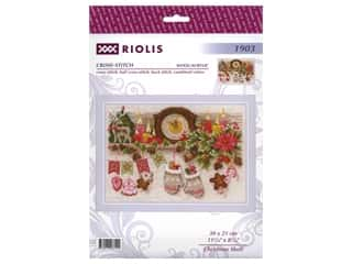 yarn & needlework: Riolis Cross Stitch Kit Christmas Shelf
