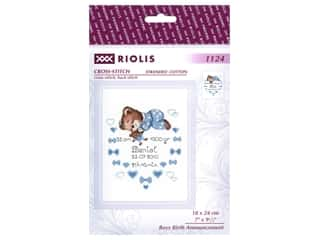 Riolis Cross Stitch Kit Boys Birth Announcement