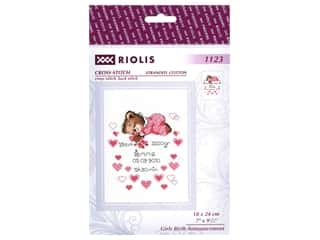 Riolis Cross Stitch Kit Girls Birth Announcement